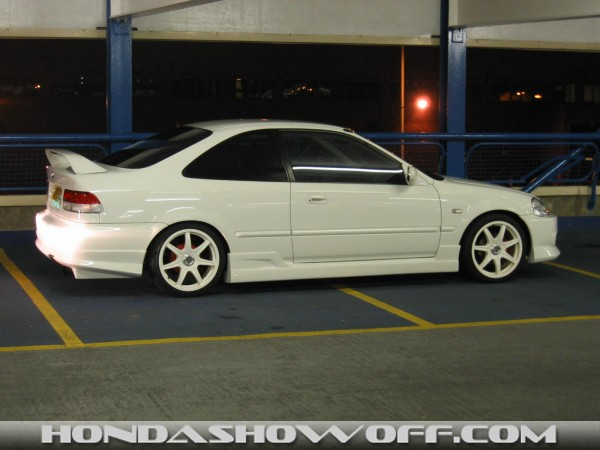 on Honda Civic Adjustable Front Camber Kit